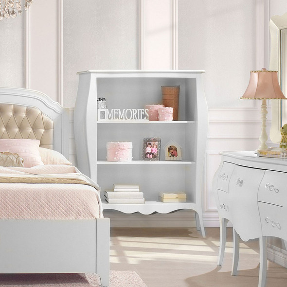 Natart Allegra Collection Bookcase in Pure White