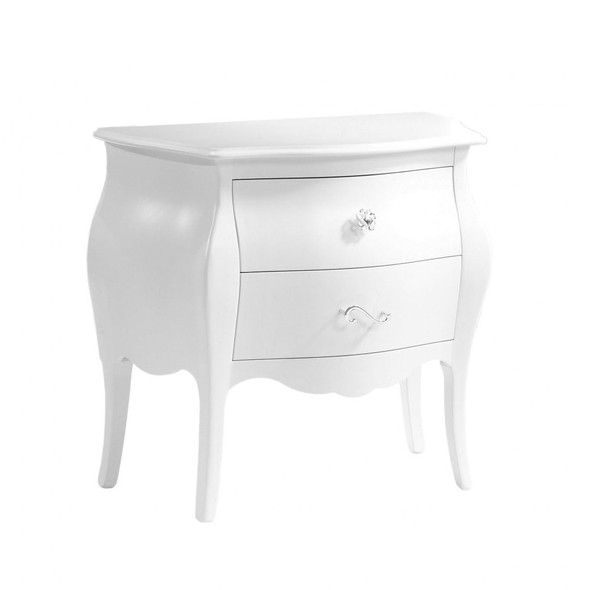 Natart Allegra Collection Nightstand in Pure White