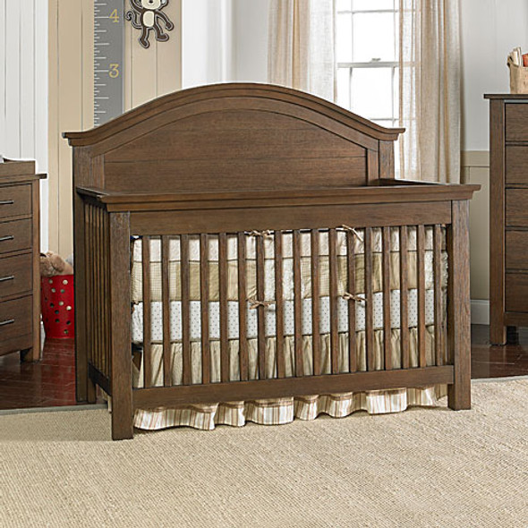 Dolce Babi Lucca Full Panel Convertible Crib in Weathered Brown