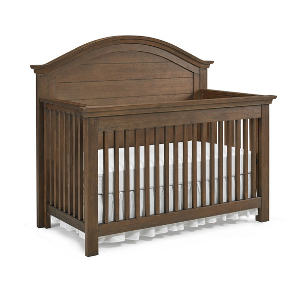 Dolce Babi Lucca 2 Piece Nursery Set Crib and 7 Drawer Dresser in Weathered Brown