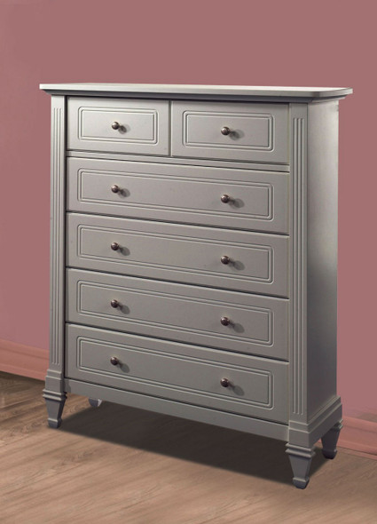 Natart Belmont 5 Drawer Dresser in Elephant Grey