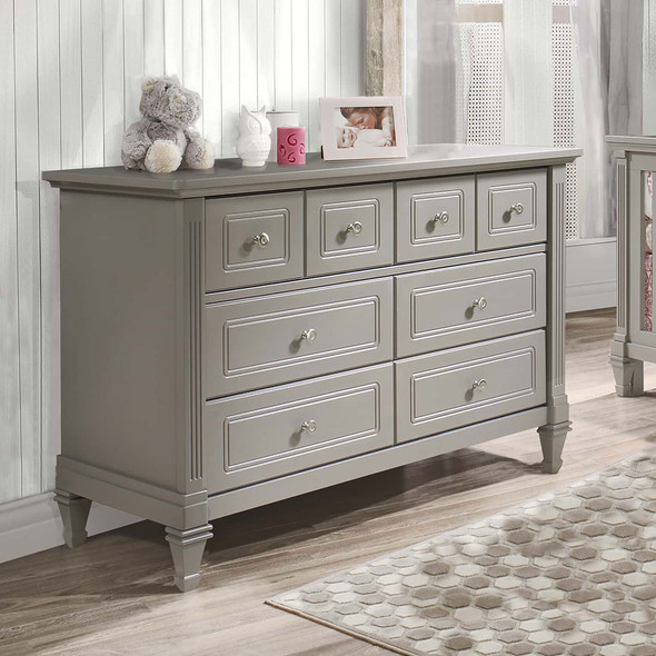Natart Belmont Double Dresser in Elephant Grey