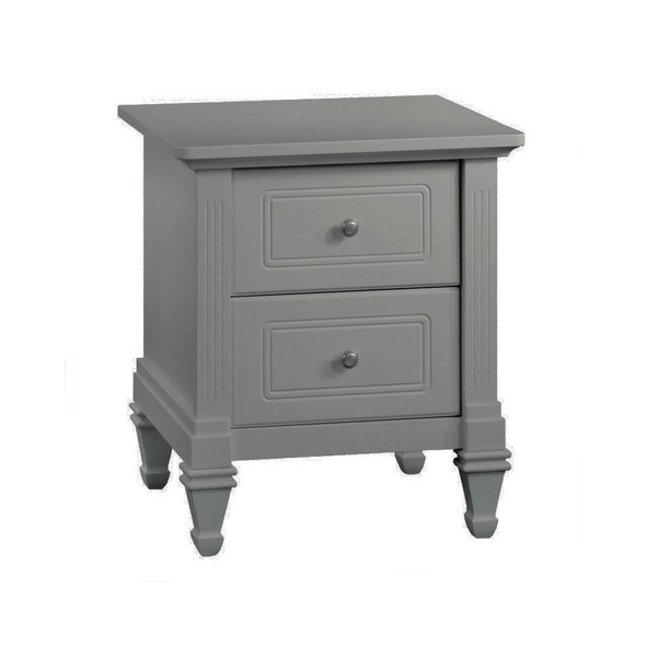 Natart Belmont Nightstand in Elephant Grey