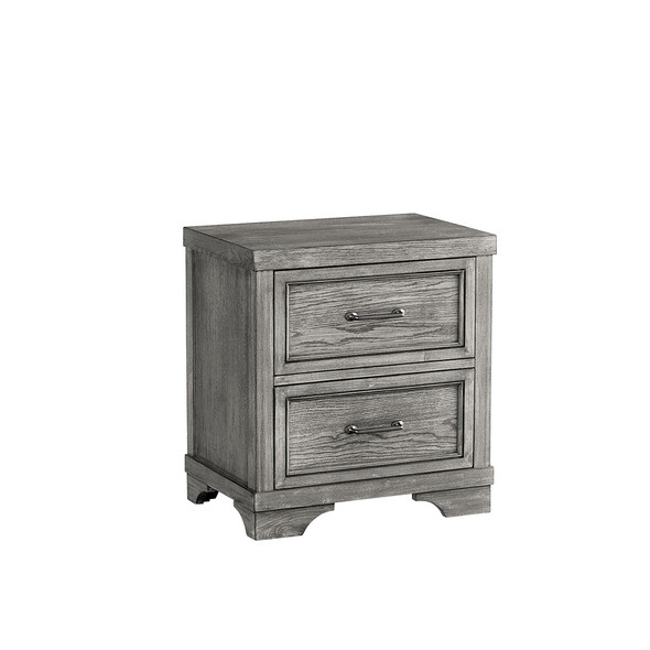 Westwood Foundry Nightstand in Brushed Pewter
