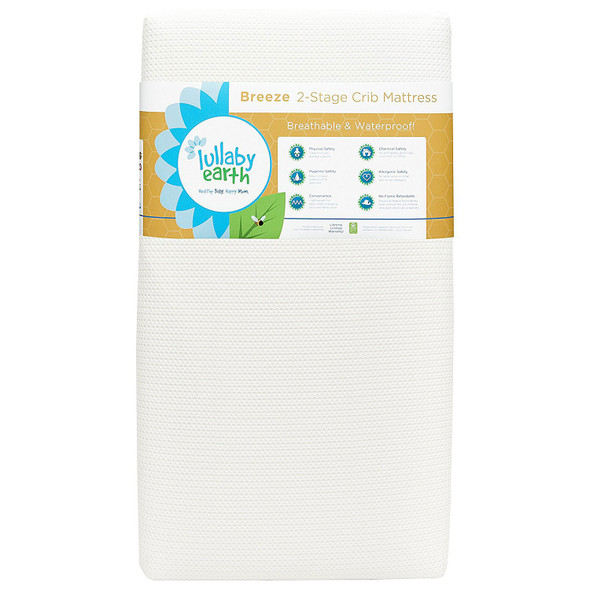 Lullaby Earth Breeze 2 in Stage Crib Mattress in White by Naturepedic