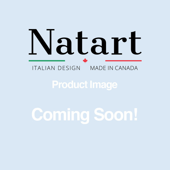 """Natart Belmont Double Bed 54"""" with Low Profile Footboard & Rails in Elephant Grey"""