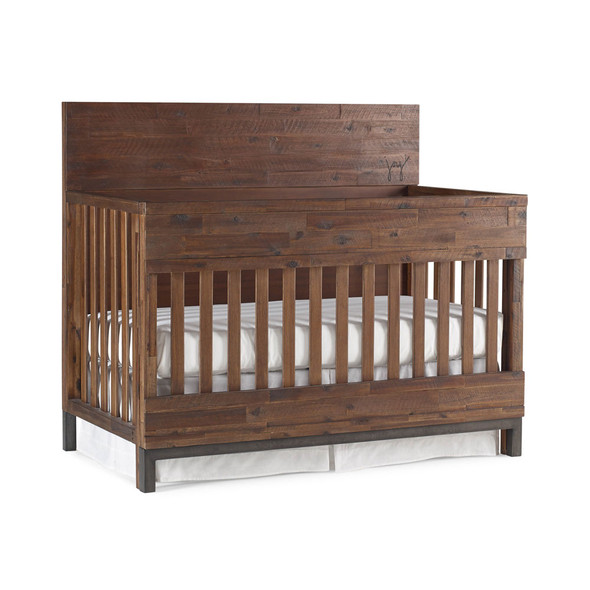 ED Ellen DeGeneres Greystone Collection Convertible Crib in Hewn Brown