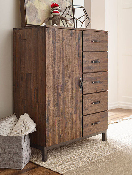 ED Ellen DeGeneres Greystone Collection Chifforobe in Hewn Brown
