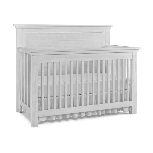 Dolce Babi Lucca 2 Piece Nursery Set Flat Top Crib and 7 Drawer Dresser in Sea Shell