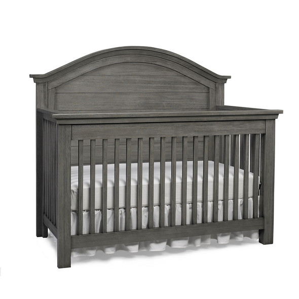 Dolce Babi Lucca 2 Piece Nursery Set Flat Top Crib and Double Dresser in Weathered Grey