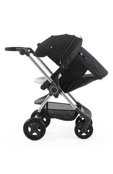 Stokke Scoot Stroller Complete. Chassis, Seat And Canopy in Black