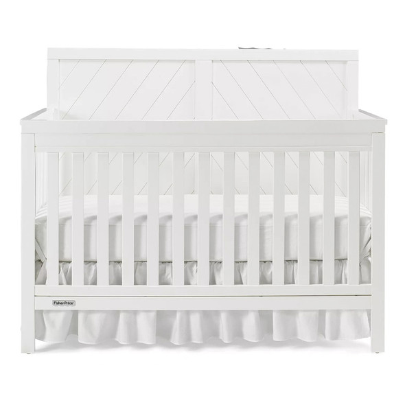 Fisher Price Buckland Convertible Crib in Snow White