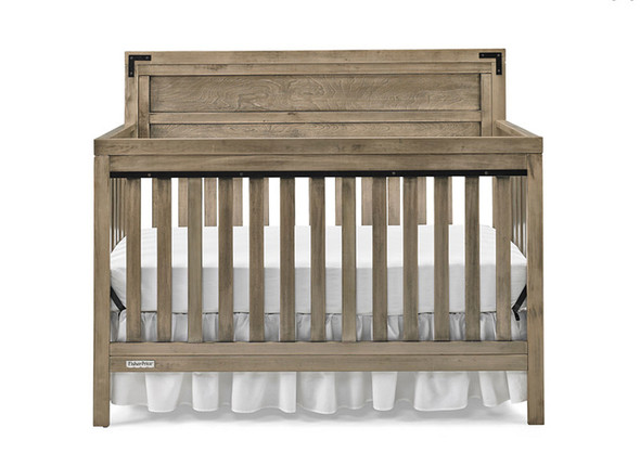 Fisher Price Paxton Convertible Crib in Vintage Grey