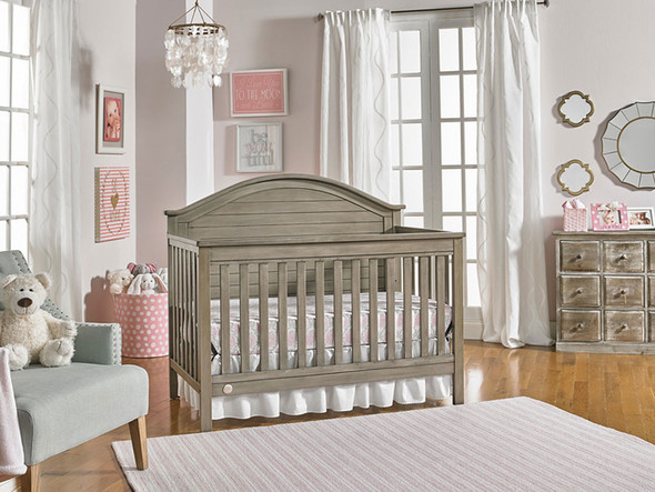 Fisher Price Haley Full Panel Convertible Crib in Vintage Grey