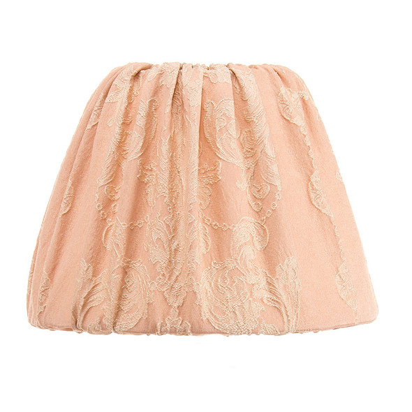 Glenna Jean Hannah Cream Lamp Base with Pink Damask Shade