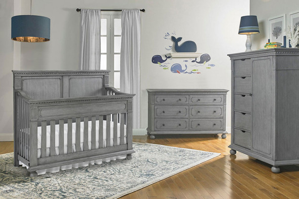 Dolce Babi Naples 3 Piece Nursery Set in Nantucket Grey