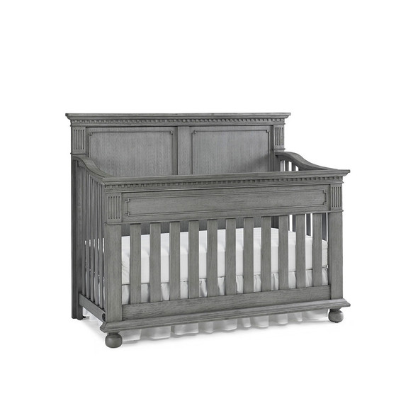 Dolce Babi Naples 2 Piece Nursery Set - Crib, Double Dresser in Nantucket Grey