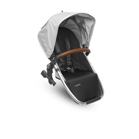 Uppa Baby VISTA RumbleSeat 2018 in Loic (White/Silver/Saddle Leather)