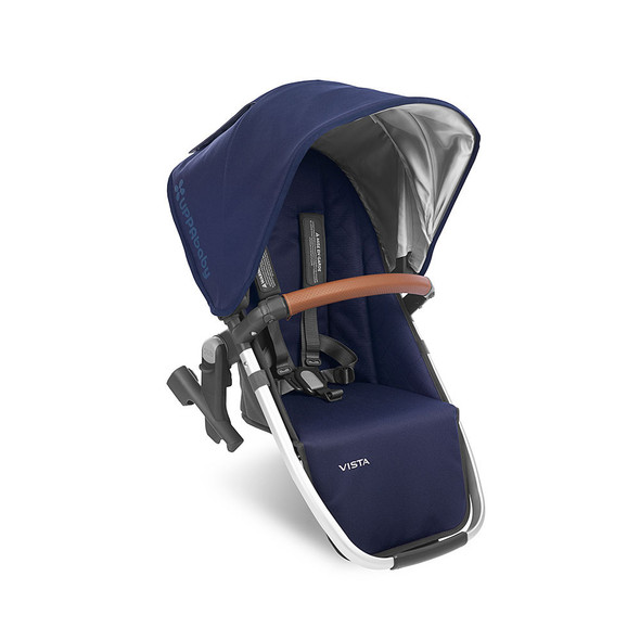 Uppa Baby VISTA RumbleSeat 2018 in Taylor (Indigo/Silver/Saddle Leather)