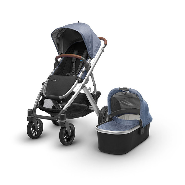 UPPAbaby VISTA Stroller in Henry (Blue Marl/Silver/Saddle Leather)
