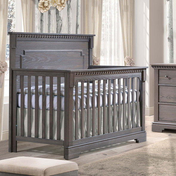 Natart Ithaca Collection 5 in 1 Convertible Crib in Grigio