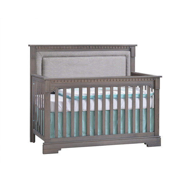 Natart Ithaca 2 Piece Nursery Set in Grigio/Fog-Crib and Double Dresser