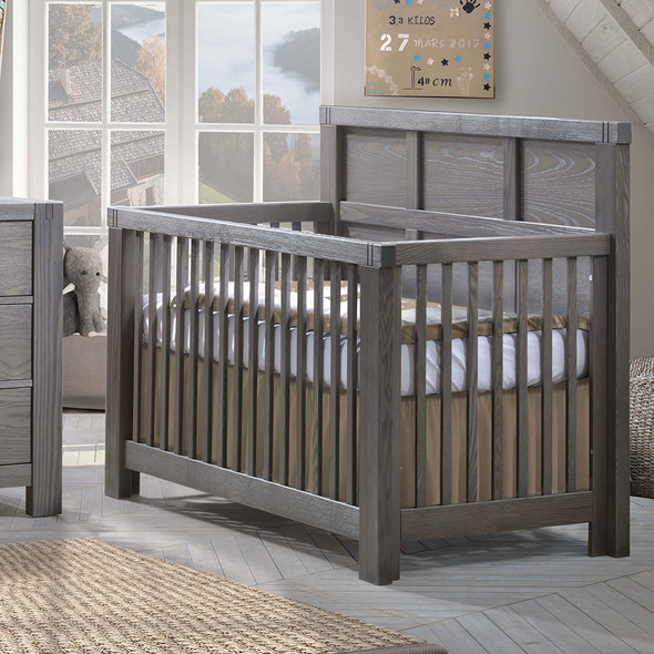 Natart Rustico Collection 5 in 1 Convertible Crib in Grigio