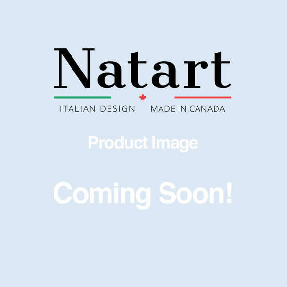 Natart Rustico Moderno Collection Convertible wardrobe system (included 3 shelves & 2 hanging rods) in Grigio