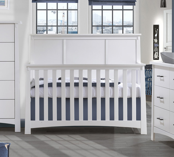 NEST Bruges Collection 5 in 1 Convertible Crib in White