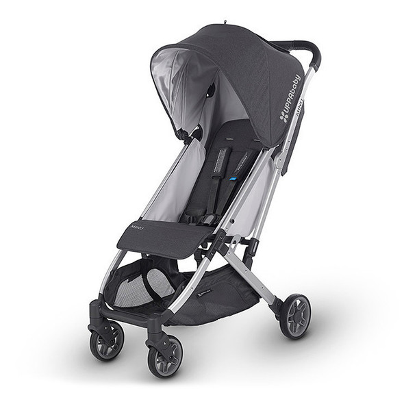 Uppa Baby Minu Stroller In Jordan (Charcoal Melange/Silver/Black Leather)