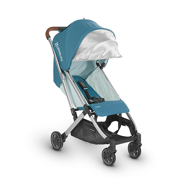 Uppa Baby Minu Stroller In Ryan (Teal Melange/Silver/Saddle Leather)