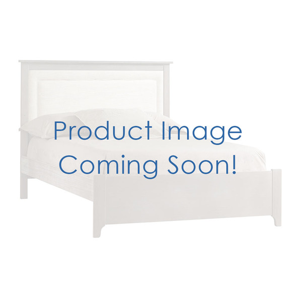 """NEST Emerson Collection Double Bed 54"""" with Low profile footboard, rails & upholstered Panel Talc in Grigio"""