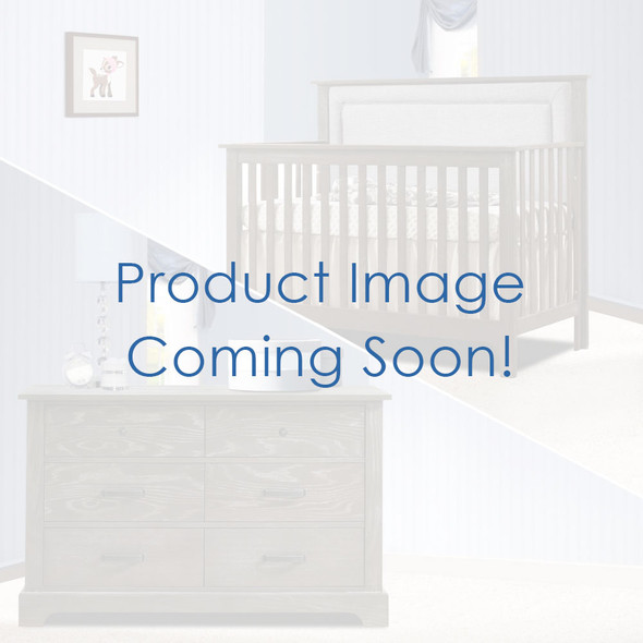 Nest Emerson Collection 2 Piece Nursery Set Crib with Fog Upl. Panel and Double Dresser in Grigio