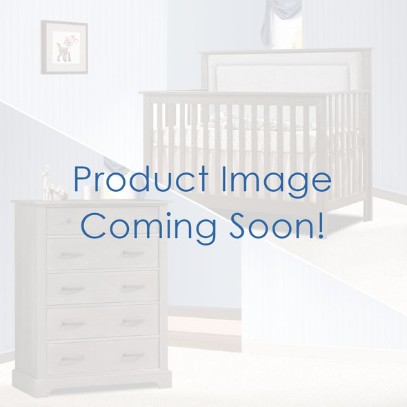 Nest Emerson Collection 2 Piece Nursery Set Crib with Fog Upl. Panel and 5 Drawer Dresser in Grigio