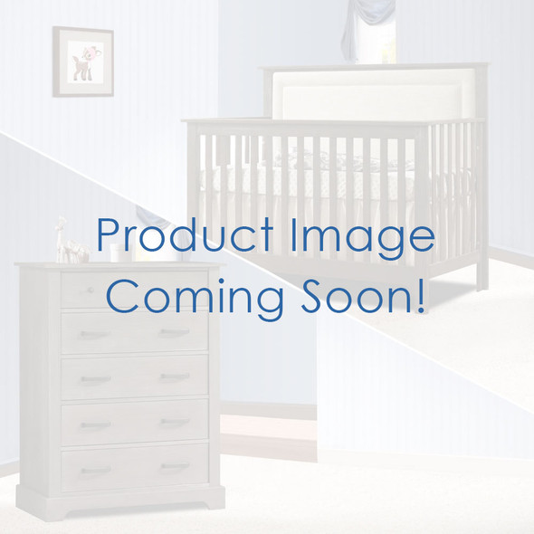 Nest Emerson Collection 2 Piece Nursery Set Crib with Talc Upl. Panel and 5 Drawer Dresser in Grigio