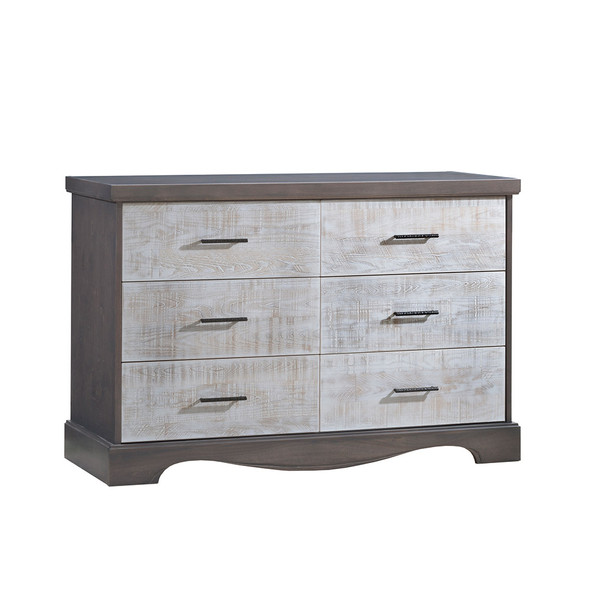 NEST Matisse Collection Double Dresser in Grigio and White Bark