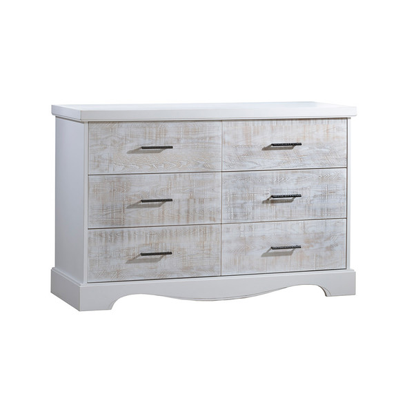 NEST Matisse Collection Double Dresser in White and White Bark