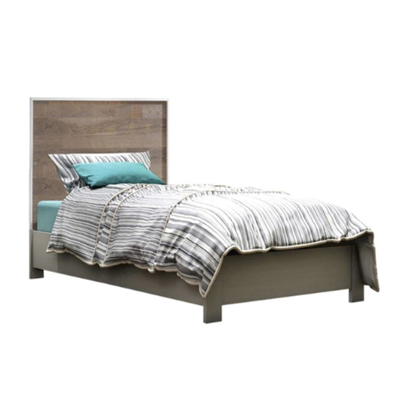 "NEST Matisse Collection Classic Twin Bed 39"" In Grigio"