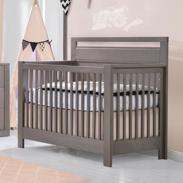 NEST Milano Collection 5 in 1 Convertible Crib in Grigio