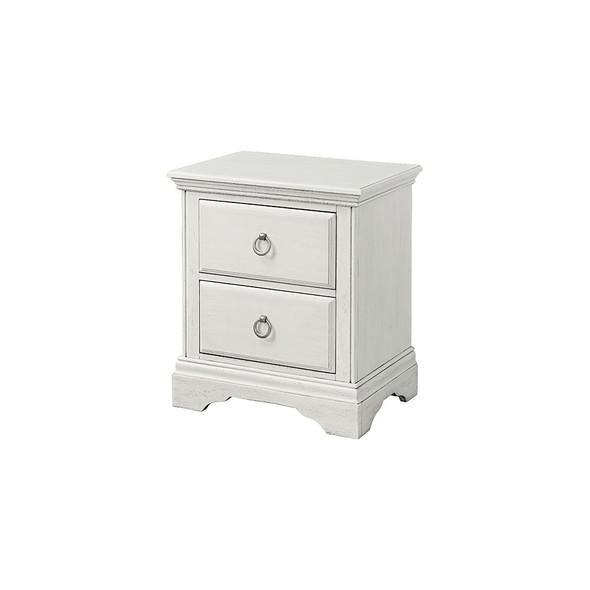 Westwood Riley 2 Drawer Nightstand in Brushed White