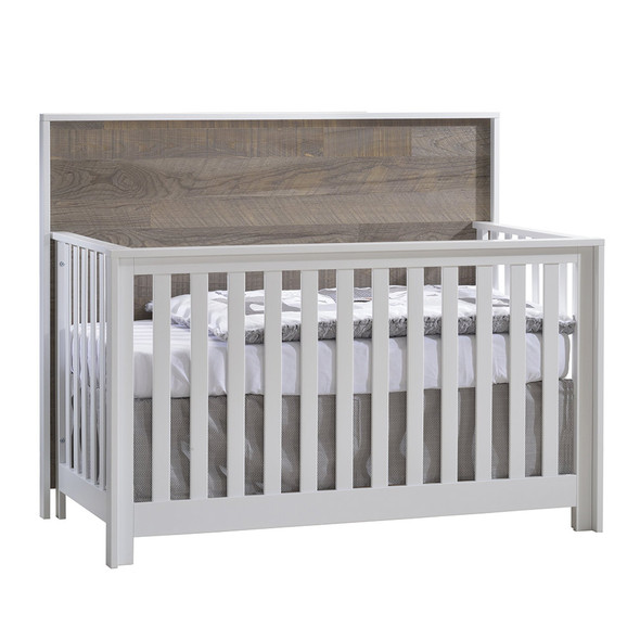 NEST Vibe Collection 3 Piece Nursery Set in White and Brown Bark
