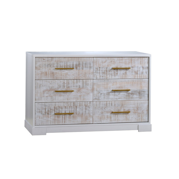 NEST Vibe Collection Double Dresser in White and White Bark