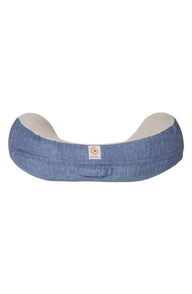 Ergobaby Natural Curve Nursing Pillow in Vintage Blue