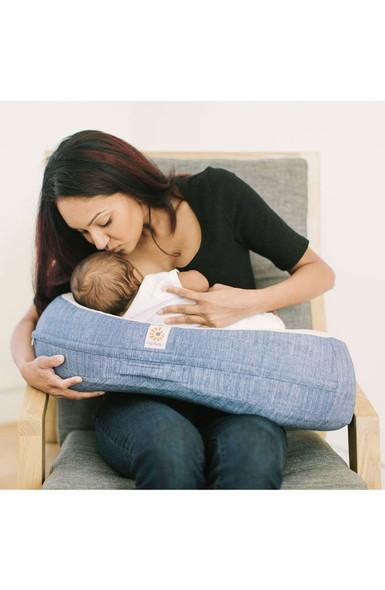 Ergobaby Natural Curve Nursing Pillow in Vintage Blue