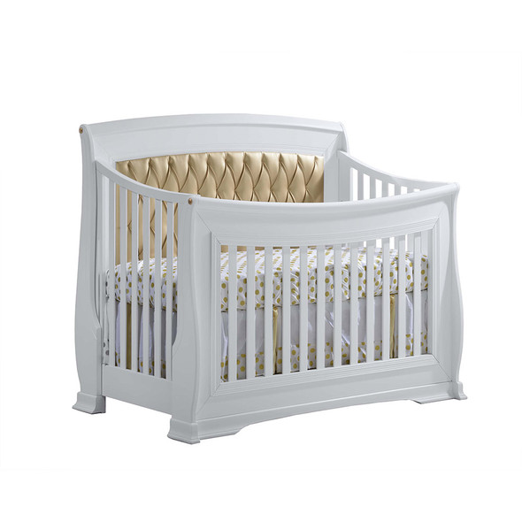 Natart Bella Gold Convertible Crib with Gold Tufted Panel