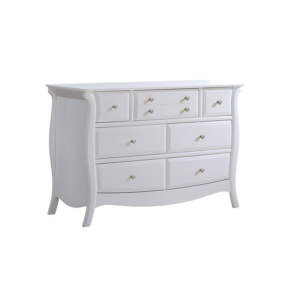 Natart Bella Collection Double Dresser in Pure White
