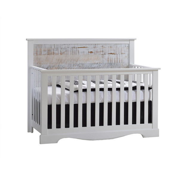 NEST Matisse Collection 5 in 1 Convertible Crib in White and White Bark