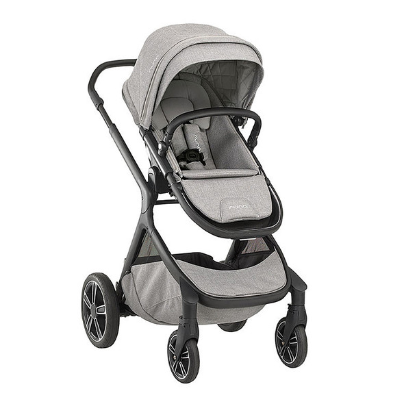 Nuna Demi Grow Stroller (with adapters, raincover & fenders) in Frost