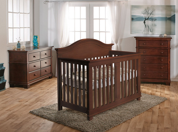 Pali Biella Collection Forever Crib in Mocacchino