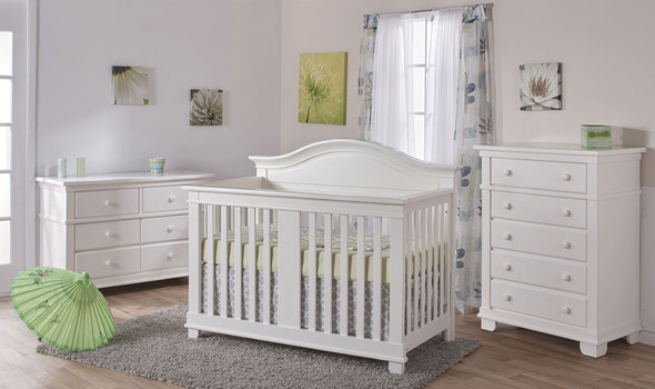 Pali Biella Collection Forever Crib in White